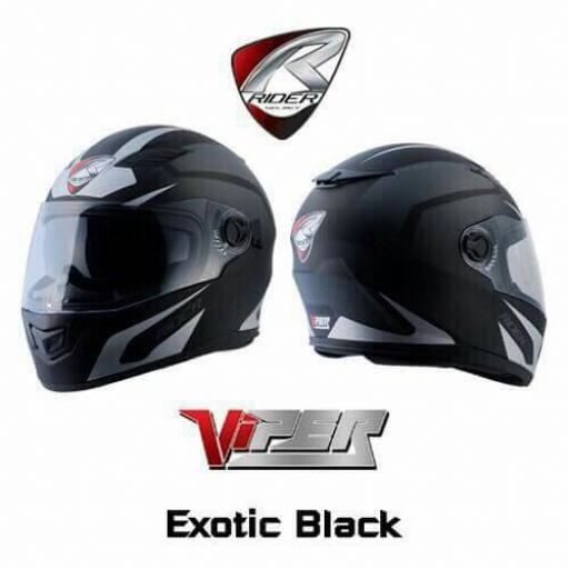 หมวกกันน็อค RIDER VIPER#12 Exotic Black Size L